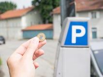 Coûts polonais de stationnement Photos stock