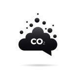 CO2-uitstotenpictogram Royalty-vrije Stock Afbeelding