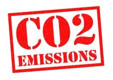 CO2-utsläpp stock illustrationer