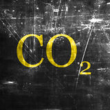 CO2 warning sign Royalty Free Stock Photos