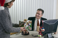 Co-worker's Christmas Royalty Free Stock Photos