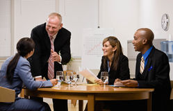 Co-workers having meeting in conference room Royalty Free Stock Photography