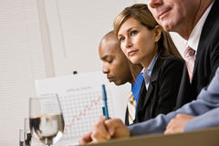 Co-workers listening during meeting Royalty Free Stock Photography