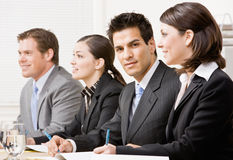 Co-workers in meeting Royalty Free Stock Photos