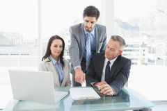 Co workers in a meeting Stock Photo