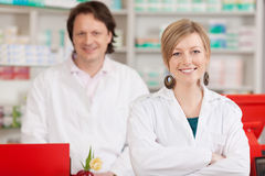 Co workers in a pharmacy Royalty Free Stock Images