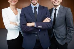 Co-workers in suits Royalty Free Stock Photo