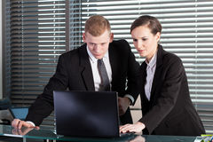 Co-workers during work Royalty Free Stock Photos