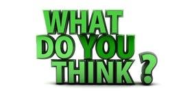 Co Wy Myśleć pytanie Zdjęcie Stock