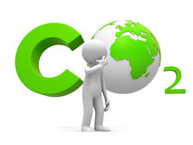 CO2 y tierra Foto de archivo libre de regalías