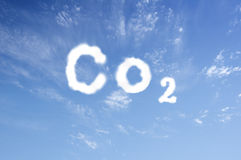 Co2. Written in clouds in the sky Royalty Free Stock Photography