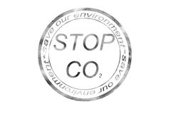 Co2. Stop co2 sign for a good climate vector illustration