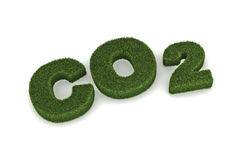 CO2. A Colourful 3d Rendered Co2 Illustration royalty free illustration