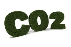 CO2. A Colourful 3d Rendered Co2 Illustration stock illustration