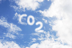 co2 royaltyfri foto