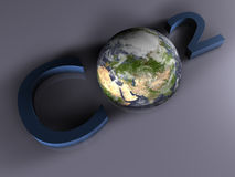 CO2 - 3D Stock Photo