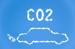 CO2-Autoemissionen Lizenzfreie Stockbilder
