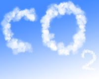 Co2 in blue sky Stock Photo