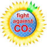 Co2_button_fight_against Foto de Stock