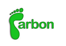 Co2 Carbon Footprint. An image showing a graphic for CO2 carbon footprint. The image shows the letter capital letter C made up of a footprint graphic stock illustration