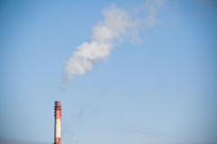 CO2 chimney smoke. Chimney smoke as a CO2 symbol - global warming Royalty Free Stock Photos
