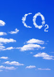 CO2 de symbole des nuages Photos libres de droits