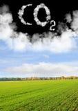 CO2 del símbolo Imagen de archivo libre de regalías
