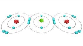 CO2 dell'anidride carbonica - schema atomico Fotografia Stock Libera da Diritti