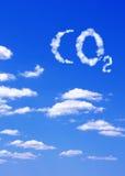CO2 di simbolo dalle nubi Fotografie Stock Libere da Diritti