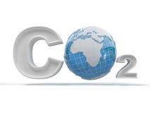 CO2. Fórmula en el fondo aislado blanco Imagen de archivo libre de regalías