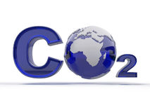 CO2. Formula on white isolated background Royalty Free Stock Photos