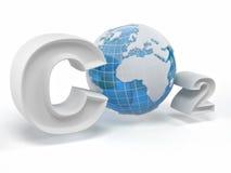 CO2. Formula on white isolated background Stock Images