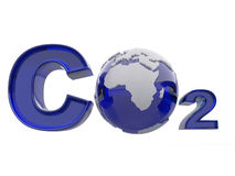 CO2. Formula on white isolated background Stock Photo