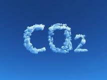 CO2 nublado stock de ilustración