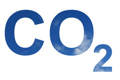 CO2 pattern. Pattern of the CO2 symbol in blue sky vector illustration