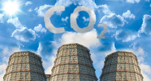 Co2 pollution Stock Photography