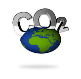 CO2 pollution in 3D's  style Royalty Free Stock Photos
