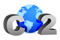 CO2 pollution in 3D's style. Illustration design over white Stock Images