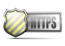 CoA HTTPS vector illustration