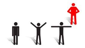 Coach. Computer generated image - Gymnastics Illustration Royalty Free Stock Image