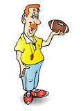 Coach. A Concept Figure coach hold football illustration stock illustration