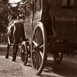 Coach. The retro coach with horses Royalty Free Stock Images