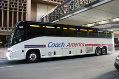 Charter Bus. Coach America filed bankruptcy in 2012 and was later liquidated. Most of the holdings were sold to Stage Coach Group the operator of Megabus and stock photos