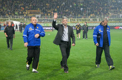 The coach of Aris team Sakis Tsiolis Royalty Free Stock Photography