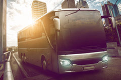 Coach. Big bus on the street Royalty Free Stock Photography
