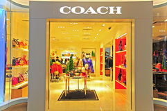 Coach boutique in hong kong Royalty Free Stock Photography