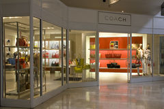 Coach brand fashion store Royalty Free Stock Image