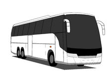 Coach bus. Vector coach bus isolated on white background royalty free illustration