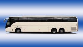 Coach bus. Isolated on blue-white background Stock Image