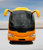 Coach bus. Isolated on landscape background Royalty Free Stock Photography